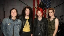 From left to right, Frank Lero, Ray Toro, Gerard Way and Mikey Way from My Chemical Romance in 2010