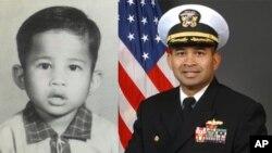មេបញ្ជាការកងទ័ពជើងទឹកសហរដ្ឋអាមេរិក លោក Michael Vannak Khem Misiewicz បញ្ជាកប៉ាល់ពិឃាដមានប្រព័ន្ធបាញ់កាំជ្រួច USS Mustin មានមូលដ្ឋាននៅក្នុងក្រុងយ៉ូកូស៊ូកា Yokosuka ប្រទេសជប៉ុន។ ទស្សនកិច្ចលោកមកប្រទេសកម្ពុជាជាវិលមកមាតុភូមិ
