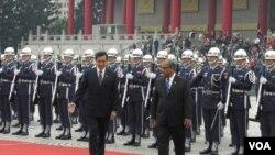 地震发生时欢迎马绍尔群岛总统仪式正在举行 (美国之音申华拍摄)