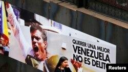 López asegura ser un preso político del gobierno del presidente Nicolás Maduro, por pensar diferente.