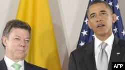 Барак Обама и Хуан Мануэль Сантос (архивное фото)