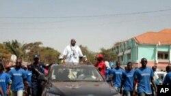 Manuel Serifo Nhamadjo, presidente interino da Guiné-Bissau, durante campanha eleitoral (Arquivo)