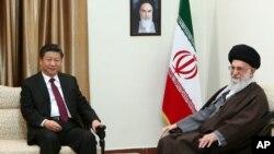 Chủ tịch Trung Quốc Tập Cận Bình hội kiến với lãnh tụ tối cao Iran hôm 23/1.