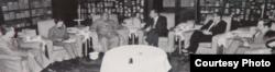 1972年2月毛与尼克松会晤,右二为洛德 (洛德提供)