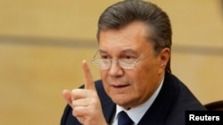 Виктор Янукович на пресс-конференции в городе Ростов-на-Дону. Россия, 28 февраля 2014.