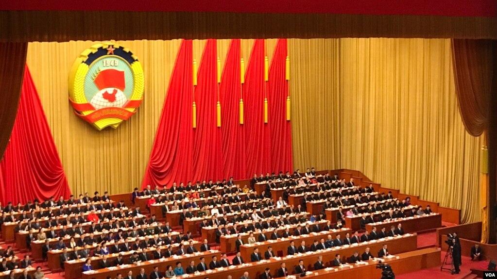 2018年3月3日,中国政协在北京人民大会堂开会。(美国之音叶兵拍摄)