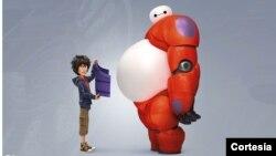 """Hiro i Bejmeks, protagonisti animiranog filma """"Big Hero 6"""", koji je dobio Oskara za najbolje dugometražno animirano ostvarenjeu u februaru"""