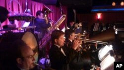 Vince Giordano and the Nighthawks perform big band-era music at Sofia's in New York.