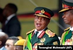 Zimbabwe VP Chiwenga and army commander V. Sibanda