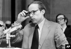 UJohn Dean III, ukhuluma kudale leSenate Watergate Committee eWashington, D.C., June 25, 1973.