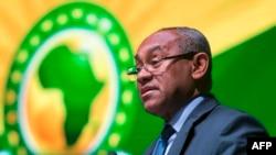 Le président de la Confédération africaine de football, Ahmad, lors de la 40e Assemblée générale de la CAF, Casablanca, Maroc, le 2 février 2018.