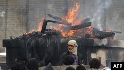 Əfqanıstanda nümayişçilərlə polis arasında qarşıdurma (FOTOLAR)