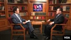 美國之音記者白盛元華盛頓專訪脫北高官李正浩。