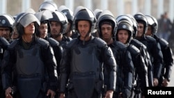 FILE - Egyptian riot police.