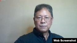 """Managing Director Political Economy and Policy Studies (PEPS), Anthony Budiawan di dalam acara """"Sarasehan Kebangsaan Pandangan Ekonomi Nasional 2021"""", Kamis 14 Januari 2021. (tangkapan layar)"""