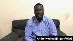 Brice Mbaimong Guedmabaye, candidat de l'alliance républicaine pour le changement démocratique au Tchad, le 5 mars 2021.