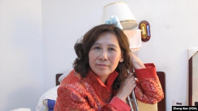 因上访被殴打致残的维权人士倪玉兰(资料照)
