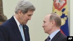 Зустріч Джона Керрі з Володимиром Путіним у Кремлі, 15 грудня 2015 року.
