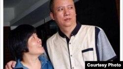 念斌和为营救他而耗尽青春年华的姐姐念建兰。(推特图片)