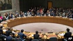 지난 4월 미국 뉴욕의 유엔 본부에서 북한 핵 위협에 관한 안보리 고위급 회의가 열렸다. (자료사진)
