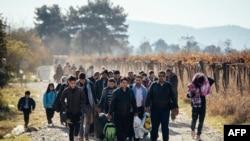 مهاجرین در سرحر بین یونان و مقدونیه