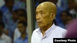 Kaing Guek Eav alias Duch on 8 June 2016 during his testimony in Case 002/02 against Khieu Samphan and Nuon Chea. (ECCC/Nhet Sok Heng)