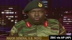 VaSibusiso Moyo vachizivisa nezvekupindira kwemauto munyaya dzematongerwo enyika muna Mbudzi 2017.
