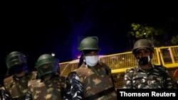 نیروهای امنیتی پس از انفجار نزدیک سفارت اسرائيل در دهلی نو