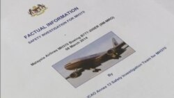 Malaysia plane search report video