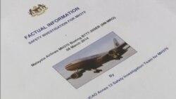 Malaysia plane search report video