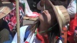 လက္ပံတန္းက သပိတ္ေမွာက္ေက်ာင္းသားမ်ားအေျခအေန