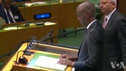 Diskou Prezidan Ayisyen an Jovenel Moïse devan Tribin l'ONU an