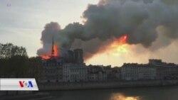 Fransa bi Şewitîna Dêra Notre Dame Xemgîn E