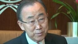 UN's Ban Ki-moon Says He's Following South Korea Protests