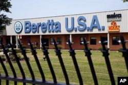FILE - The Beretta U.S.A. facility is shown in Accokeek, Md., Aug. 4, 2014. Beretta is one of the U.S. gunmakers sued by Mexico on Aug. 4, 2021.