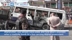 VOA60 Addunyaa - Afghanistan: Four people killed, nine wounded in roadside bomb attack