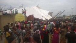 Un immeuble de 5 étages s'écroule à Kinshasa-Reportage de TOP CONGO