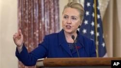 Хиллари Клинтон. Госдепартамент США. Вашингтон. 29 ноября 2012 г.