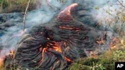 La lava se encuentra actualmente en los patios traseros de las residencias