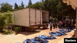 迪亞區內戰鬥死者遺體被處理
