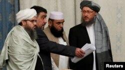 هیات مذاکره کننده طالبان در مسکو (عکس از آرشیف)