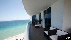 Кондоминиум с видом на побережье Атлантического океана. Майами, Флорида