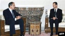 Глава МИД РФ Сергей Лавров и президент Сирии Башар Асад (архивное фото)
