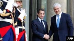 Predsednici Francuske i Srbije, Nikola Sarkozi i Boris Tadić, tokom susreta u Parizu
