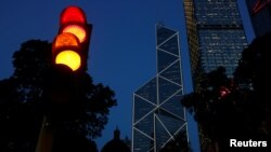 香港中國銀行的大廈。