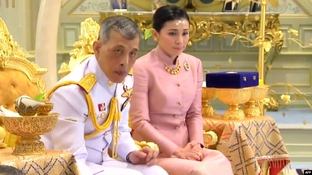 Quốc vương Thái Lan Maha Vajiralongkorn và Hoàng hậu Suthida Vajiralongkorn.