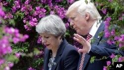 Дональд Трамп и британский премьер-министр Тереза Мэй