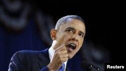 奧巴馬總統11月7日在芝加哥發表勝選演說