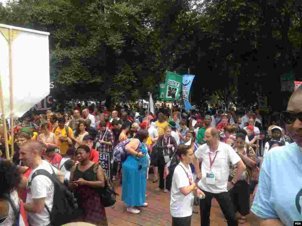 Протесты у Белого Дома. Вашингтон, Округ Колумбия
