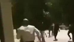 فیلمی از درگیری معترضان و ماموران در کازرون در روز پنجشنبه